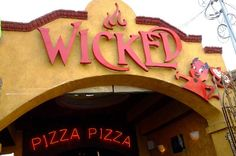 Wicked Pizza—it's great pizza, and they deliver FAST Cabo San Lucas, Los Cabos Baja California, Great Pizza, Lunch Time, Places To Eat, Trip Advisor, Wicked, Mexico, Neon Signs