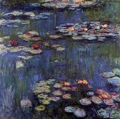 Acheter Tableau 'nénuphars (54)' de Claude Monet - Achat d'une reproduction sur toile peinte à la main , Reproduction peinture, copie de tableau, reproduction d'oeuvres d'art sur toile