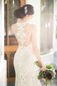 Courtesy of Martina Liana wedding dresses; 947 Boho Wedding Gown with Graphic Lace by Martina Liana Wedding Dress Quiz, Boho Wedding Gown, V Neck Wedding Dress, Wedding Dresses 2018, Gorgeous Wedding Dress, Mod Wedding, Designer Wedding Dresses, Wedding Ideas, Lace Wedding
