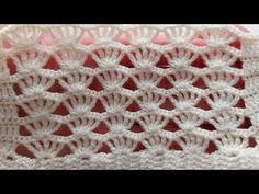 Crochet Motif Patterns, Crochet Borders, Baby Knitting Patterns, Knitting Stitches, Crochet Designs, Crochet Cord, Crochet Scarves, Crochet Clothes, Crochet Toddler Dress