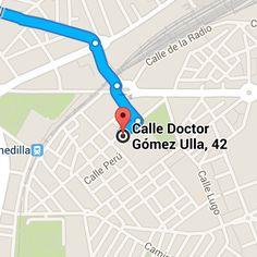"Google Maps, Erasmus Clara""s ROOMS , calle Doctor Gómez Ulla n°42, 4º A,  Salamanca,  España."