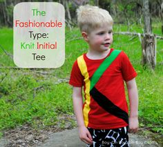 Boy, Oh Boy, Oh Boy Crafts: The Fashionable Type: Knit Initial Tee