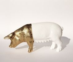 Goldpig by BenLix on Etsy, $46.00