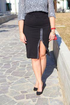 DIY Zip skirt #zipskirt #diy