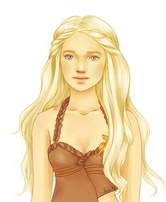Khaleesi by kimpertinent on DeviantArt - Modern Princess Illustration, Hair Illustration, Daenerys Targaryen, Khaleesi, Khalessi Hair, Game Of Thrones Series, Long Blond, Think Happy Thoughts, Mother Of Dragons