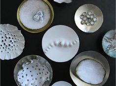 white brooches - serie