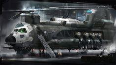 Concept ship art by Al Crutchley