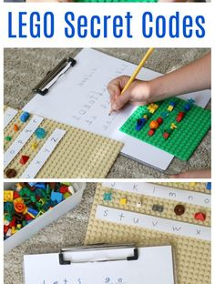 Write coded messages with LEGO Bricks, # Secret code! Write coded messages with LEGO Bricks Secret code! Write coded messages with LEGO Bricks, # Secret code! Write coded messages with LEGO Bricks Lego Club, Literacy Activities, Activities For Kids, Camping Games For Kids, Space Activities, Activity Games, Camping Ideas, Legos, Van Lego