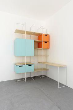 Storage Unit & Desk, Design+Weld.