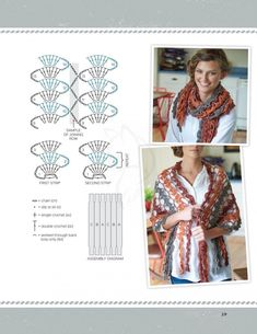"Best 12 ""Continuous Crochet: Create Seamless Sweaters, Shrugs, Shawls and More"" Обсуждение на LiveInternet – SkillOfKing. Crochet Shawl Diagram, Crochet Motifs, Freeform Crochet, Crochet Chart, Filet Crochet, Crochet Lace, Crochet Stitches, Crochet Patterns, Crochet Scarves"