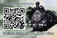 120 Jahre Kino - Kleine Sonderschau im Schaukasten - Infos via QR-Code Museum, Coding, Cinema, History, Museums, Programming