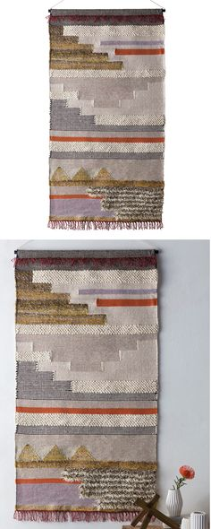 Beautifully hand-woven, this Salvador Tapestry will bring a gorgeous touch of Southwestern-inspired style to your contemporary living room or transitional dining space. A stunning combination of wool, ...  Find the Salvador Wall Hanging, as seen in the Bohemian Summer Solstice Collection at http://dotandbo.com/collections/bohemian-summer-solstice?utm_source=pinterest&utm_medium=organic&db_sku=115909