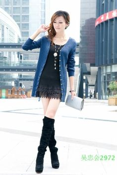 Korean Slim V-Neck Long Cardigan Sweater on BuyTrends.com, only price $7.50