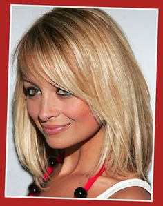 medium layered haircuts with bangs - Google Search