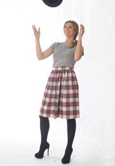 Don´t you just love Tartans? Well, I do!  Skirt from rubyred/wardrobe; http://de.dawanda.com/shop/RubyredWardrobe