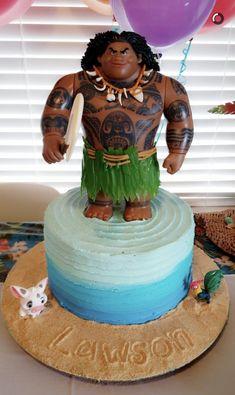 Moana boy birthday cake; Maui