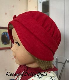 b831a6eba3 Left Side View of 1920's Cloche Girl Dolls, Baby Dolls, Girl Doll Clothes,