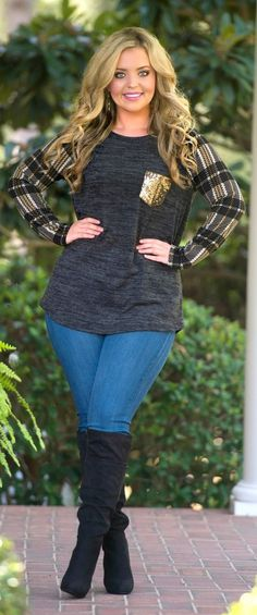 Fall On My Mind Top - Black - Perfectly Priscilla Boutique