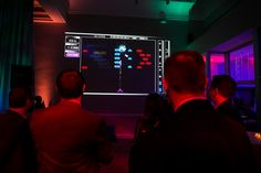 Guests could play the classic video game Space Invaders in a modern format: Quince Imaging projected onto the walls of the venue.  Photo: Michael Kress