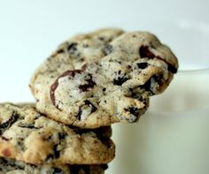 Chocolate chip cookies with crushed oreos