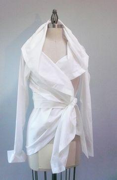 Custom Made Maria Severyna Pima Cotton  White by MariaSeveryna, $169.00