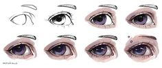 Semi Realistic Eye Tutorial by artisticxhelp.deviantart.com on @DeviantArt
