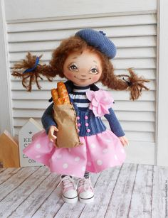 Textile art doll French Anne – shop online on Livemaster with shipping