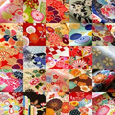 "Japanese textiles in a photo entitled ""Full Bloom!""  by karaku on Flickr."