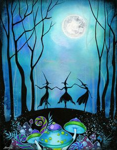 Witches Dancing under the Moon by Annya Kai http://www.etsy.com/shop/annya127?ref=seller_info
