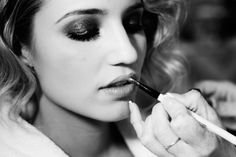 Diana Agron, getting ready for MET Gala 2012