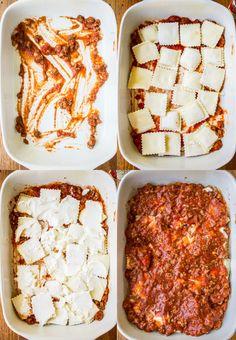 Easy Ravioli Lasagna from The Food Charlatan