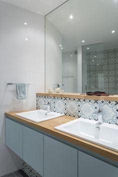 Salle de bain aménagé et décoré par la décoratrice d'intérieur Vanessa Faivre