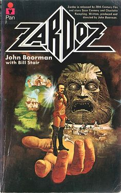 """Zardoz movie poster, also known in England as, """"that movie where Sir Sean Connery wears a bright orange nappie."""" Probably the reason why Sean Connery ran away screaming from Sci-Fi movies for the majority of his career. #squishable #plush #geek"""