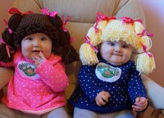 DIY Cabbage Patch Doll costumes for Halloween.