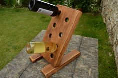 Handmade Wine Rack Wooden Winery Recycled beech wood winery Wood wine rack