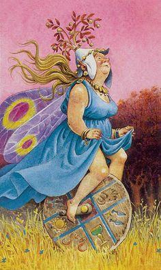 Wheel of Fortune - Fairy Tarot (Antonio Lupatelli)