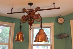 Hay Carrier Light Fixture | Found on reclaimed-designs.com