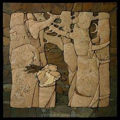 Как правило, в поисках новых идей и расширения кругозора, на просторах интернета я встречаю массу интересного. Сегодня я хочу показать вам необычные и очень красивые работы Сергея Карлова. Его творения восхищают меня не только техникой исполнения, но и своим неповторимым стилем и гармонией. Сергей Карлов – мастер мозаики, художник-камнер…