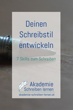 deinen-schreibstil-entwickeln_akademie-schreiben-lernen Writing A Book, Writing Prompts, Email Marketing, Storytelling, About Me Blog, Cards Against Humanity, Names, Tips, Studying