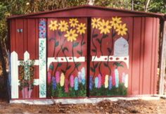 painted metal shed                                                       …