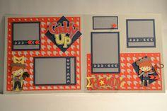 Kim Ferguson's Crafting Blog - Rubber Stamping and Scrapbooking: Western Cricut Create A Friend Scrapbook Layout