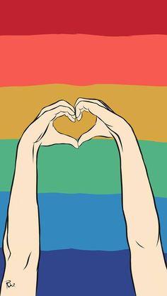 L Wallpaper, Rainbow Wallpaper, Lgbtq Flags, Gay Aesthetic, Queer Art, Rainbow Aesthetic, Lesbian Pride, Gay Art, Cute Wallpapers
