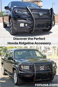 Our Grille Guard for the Honda Ridgeline is the perfect accessory that adds that unique offroad looks. #hondaridgeline #hondaaccessories #grilleguard