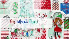Oh What Fun - Unpacking & Tips & Tricks Unpacking Tips, Collections Catalog, Scrapbook Supplies, Digital Scrapbooking, Mixed Media, Card Making, Lily, Seasons, Christmas