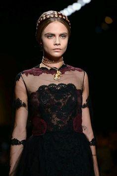 Maison Valentino Paris Fashion Week Fall Winter 2014 leather headband