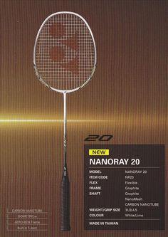 Yonex Nanoray 20 Badminton Racket, Tennis Racket, Box Frames, Coding, Programming