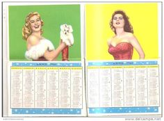 calendario del tipo in uso dai barbieri anno 1961