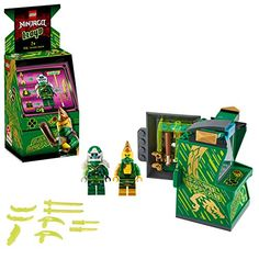 Buy LEGO Ninjago Lloyd Avatar Arcade Pod Portable Playset 71716 at Argos. Thousands of products for same day delivery or fast store collection. Figurines D'action, Lego Ninjago Lloyd, Lego Ninjago Movie, Ninjago Dragon, Dragons, Borne Arcade, Construction Lego, Avatar Characters, Lego Boards