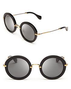 08ace3896b Miu Miu Noir Round Sunglasses - All Sunglasses - Sunglasses - Jewelry  amp   Accessories -