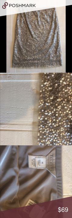 NWT Talbots Champagne 🥂 Sequin Skirt This NWT Talbots Collection Champagne gold sequin skirt is sure to dazzle! Talbots Skirts Midi